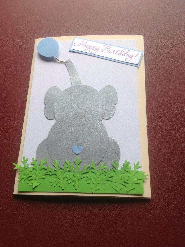 Kiharna's 12th birthday elephant card