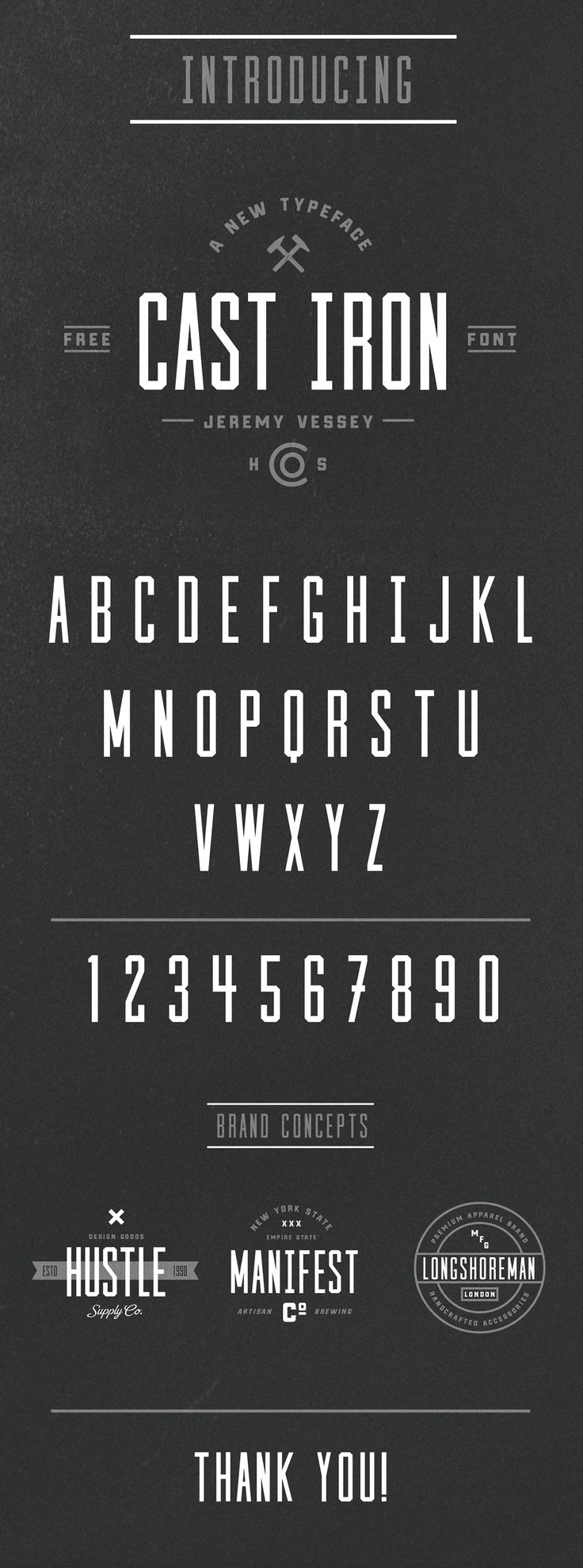 A gorgeous and free condensed sans-serif font, courtesy of Jeremy Vessey.