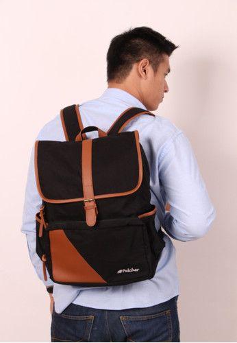 Pulcher Special edition Black backpack - FREE RAINCOVER - tas sekolah, ransel - waterproof