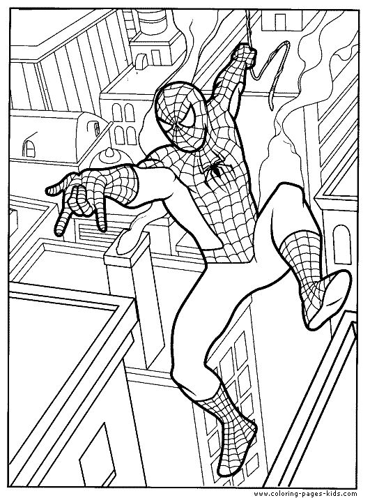 spider man color page cartoon characters coloring pages - Colouring Pages Cartoon Characters
