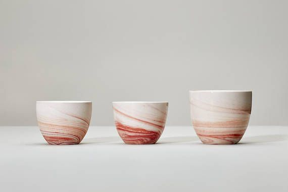 Italy espresso cup marble wedding gift pink red orange