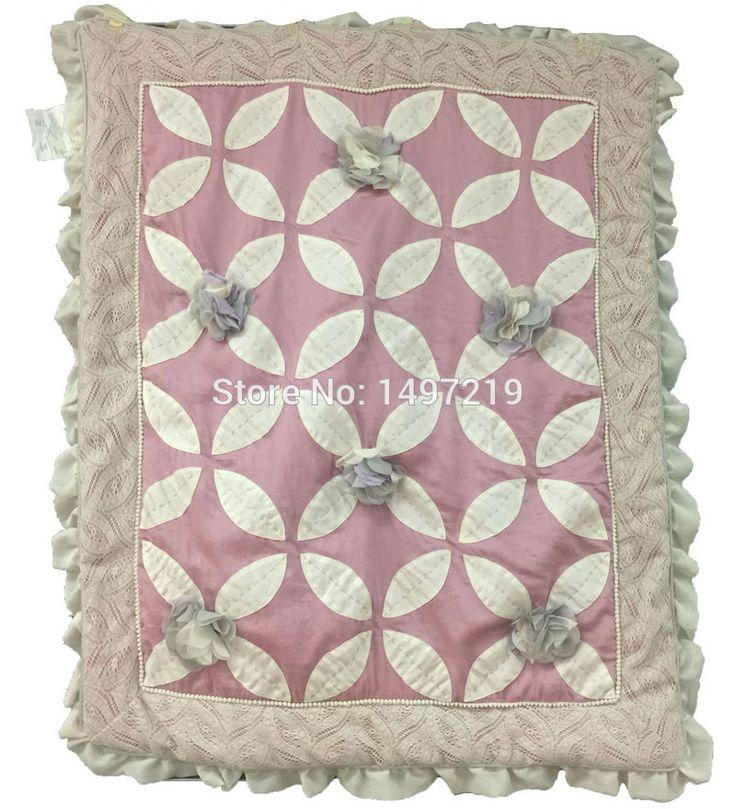 3d bloem patroon crib quilts voor meisje ripple randen met kant decoratie PH144 in 3d bloem patroon voor baby meisje wieg quilts rimpel randen met kant decoratie ph144    baby qui van beddengoed sets op AliExpress.com | Alibaba Groep