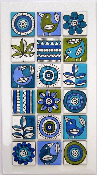 Handpainted Tiles by emily