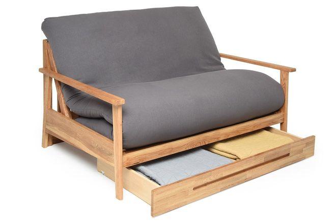 2 Seater Haiku Double Sofa Bed In Oak Futon Company Small Sofa Bed Double Sofa Bed Oak Sofa