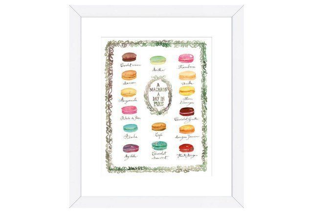 Lucile Prache, French Macaron Flavors print for the kitchen. #LGLimitlessDesign #Contest