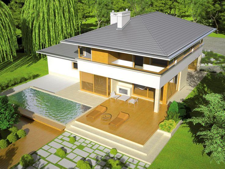 DOM.PL™ - Projekt domu AC Diego G2 CE - DOM AE9-97 - gotowy projekt domu