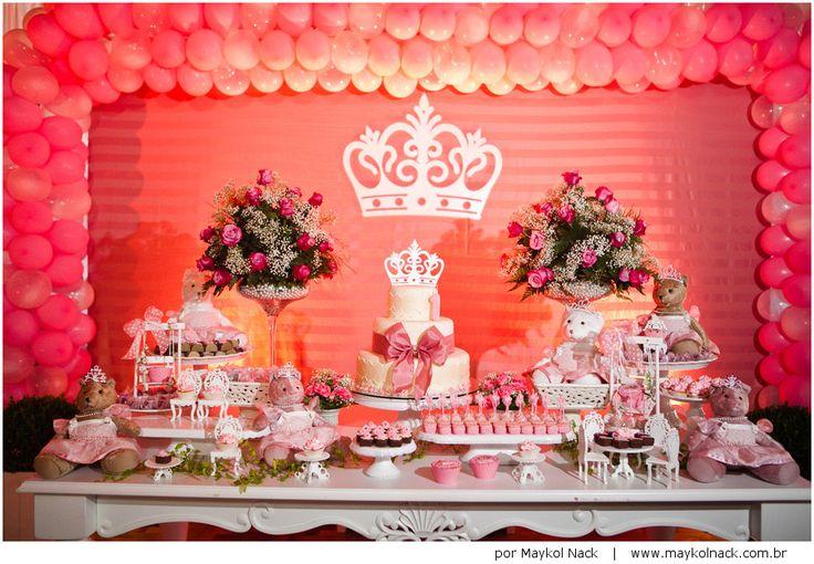 Olívia   festa 1 ano   apresentando a princesa da casa   http://www.maykolnack.com.br/blog