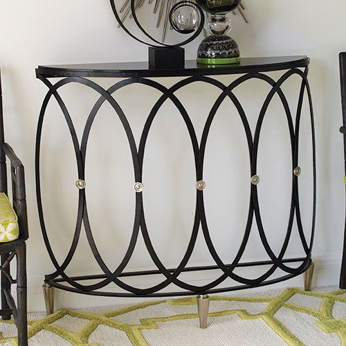 Global Views 9.92009 Ovoid Demi Lune Transitional Console Table GLV-9-92009