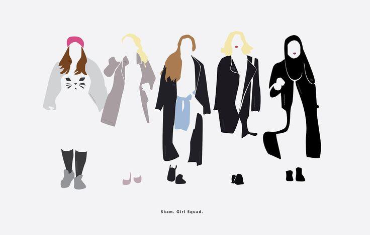 "Girl Squad part 6. SKAM is back. I am back~. ""Source: nanaminhae.tumblr.com REDBUBBLE   IG brbrgraphics   Behance portfolio   E-mail """