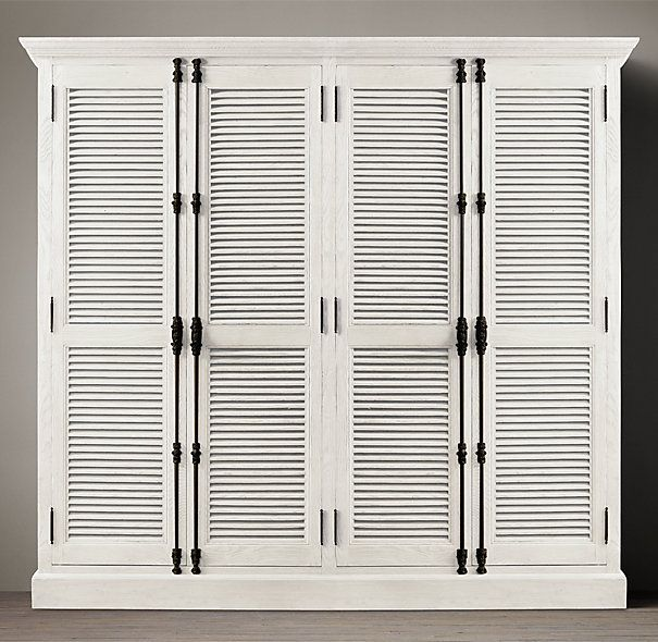 Restoration Hardware Shutter Door Double Cabinet with Cremone Bolts: