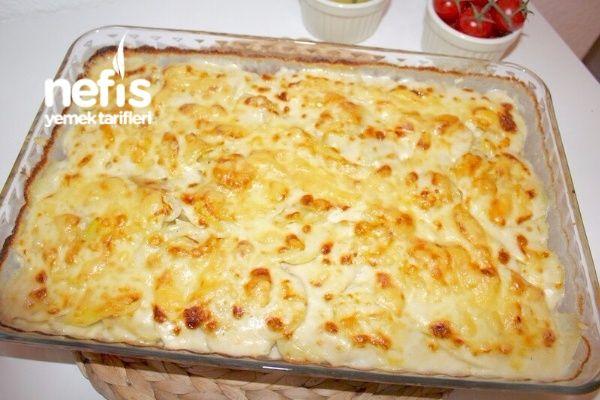 Fırında Kremalı Patates (Kartoffelgratin)