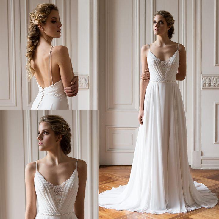 vestido de novia griego escote v · Greek wedding dress neckline v - www.santoencanto.cl/vestidos-de-novia/
