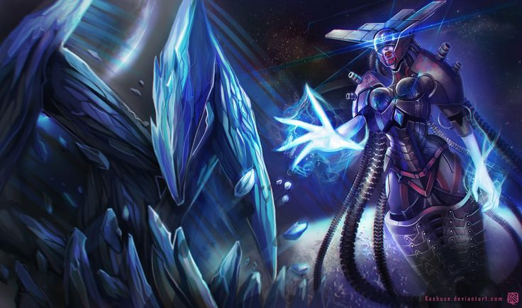 League of Legends_Lissandra_Space Cyborg_Splash by Kashuse.deviantart.com on @deviantART
