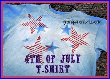 DIY 4th of July T-Shirt www.grandparentsplus.com