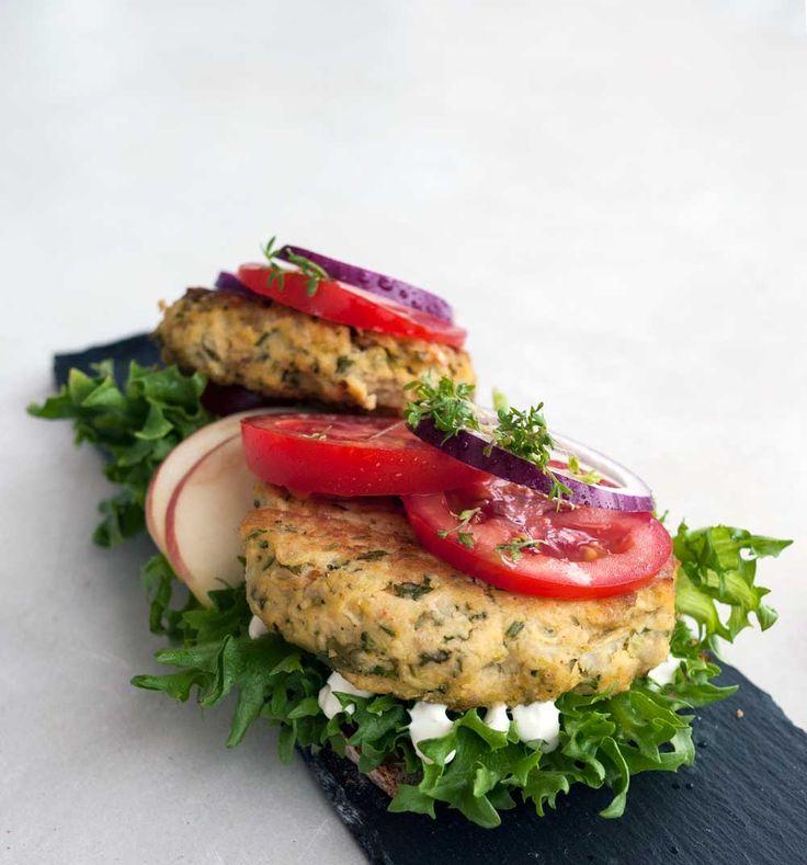 veggieburger med kikerter og koriander | en klype salt