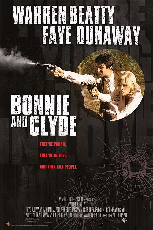 1967 Bonnie and Clyde warren #beatty Faye #dunaway. #crime