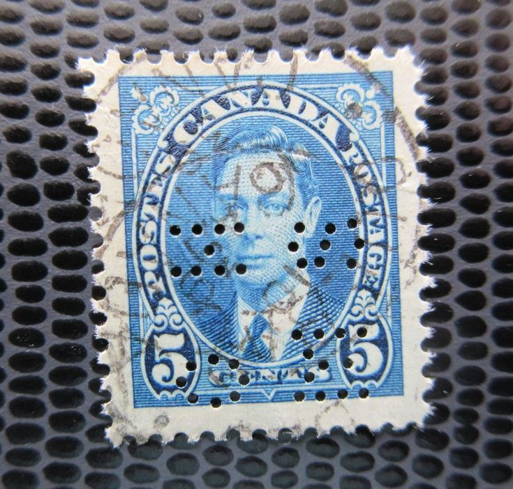 # 235 OHMS Perfin King George VI used Canada stamp