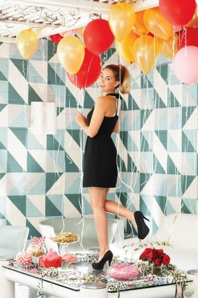 perfect holiday party dress and heels {lc lauren conrad}