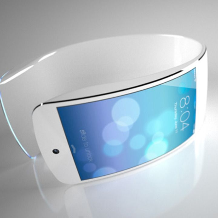 Apple iWatch. Interesting concept. I think this looks very photoshopped in nature. Not very original.