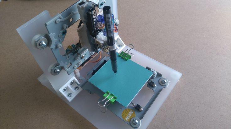 Arduino mini CNC plotter from CD/DVD Drives (FHD)