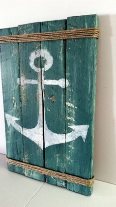 Paletten-Anker Schild Rustic Lake Decor Rustic Ocean Decor Summertime Pallet Sign