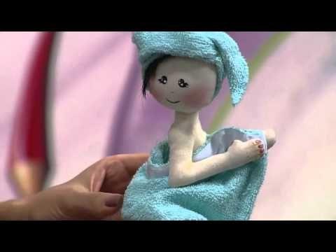 Mulher.com - 22/04/2016 - Boneca enfeite para porta de banheiro - Luciane Valeria PT2 - YouTube