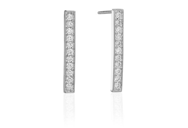 Earrings Simeri Piccolo with white zirconia.