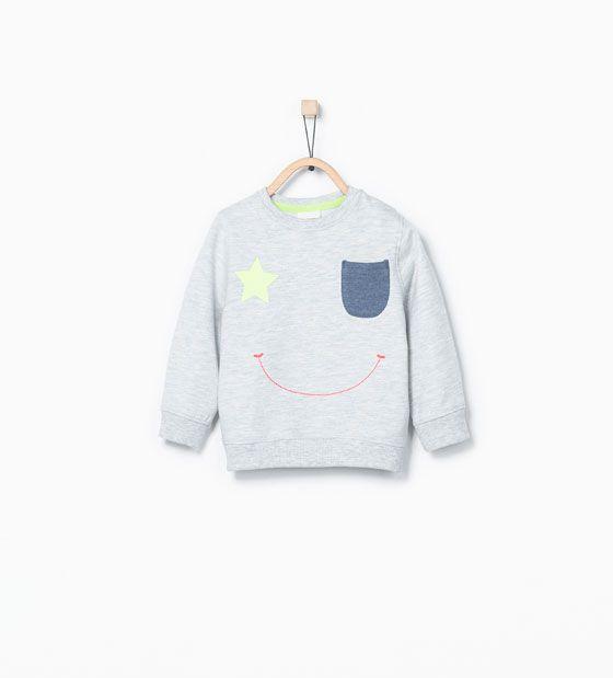 Smiley sweatshirt from Zara Baby Boy