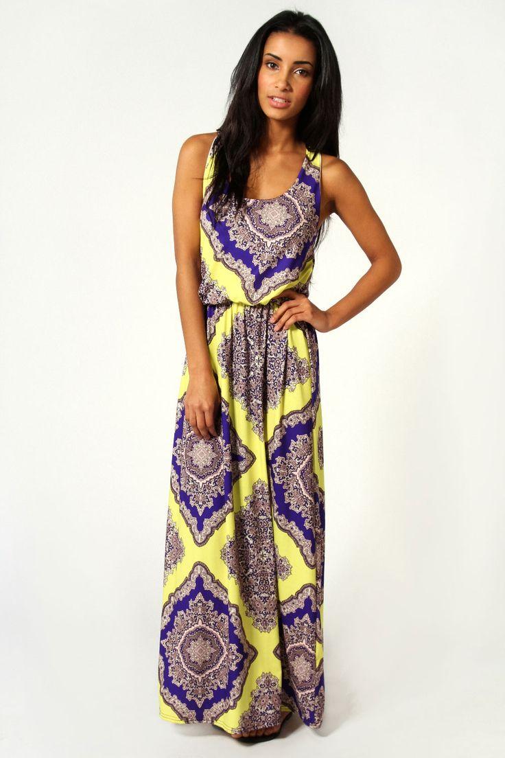 Neon Paisley Twist Back Maxi Dress  Get 7% Cash Back http://www.studentrate.com/all/get-all-student-deals/Boohoo-com-Student-Discounts--/0