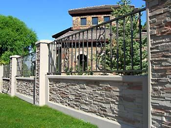 36 Best Fence Walls Images On Pinterest Walls Privacy Fences - brick wall fence designs south africa