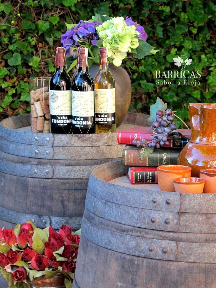 decoracion de stand de vinos