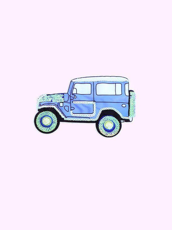 Blue Jeep Back Patch – Jeep Girl – Jeep Shirt – Pastel Goth – Kawaii – Harajuku Clothing – Tumblr Cl