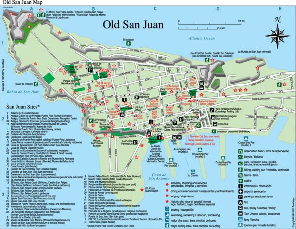 Puerto Rico Map Tourist Attractions | 18.4660749472543 -66.1159372329712 16 satellite