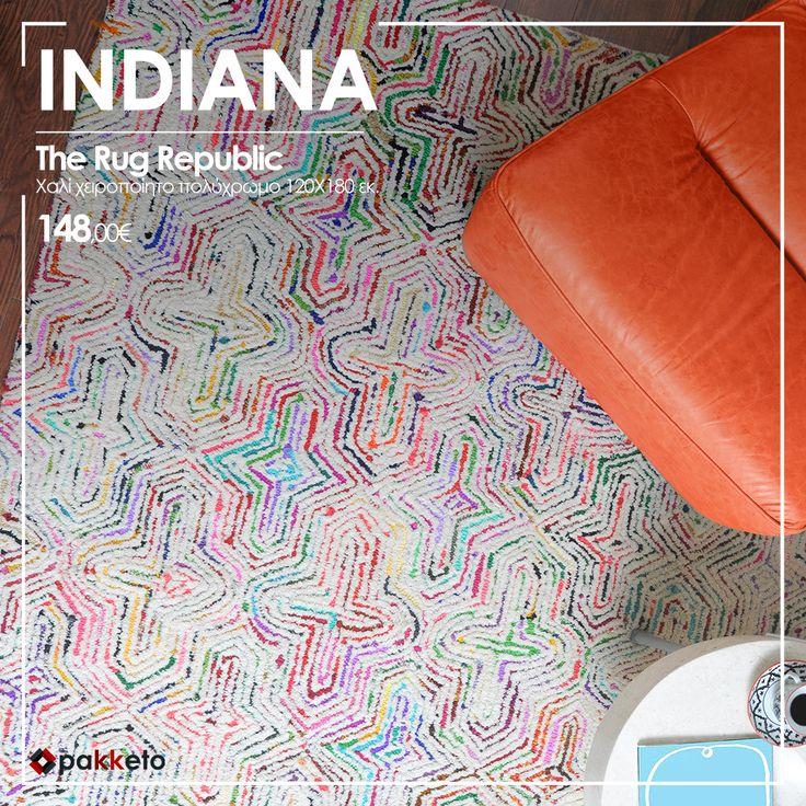 Αν το χαλί σου θέλεις να δίνει άποψη στον χώρο σου, επιλέγεις το Indiana με την υπογραφή The Rug Republic. Κορυφαία ποιότητα, μοναδικό στυλ, τέλεια τιμή #pakketo ! Απόκτησέ το εδώ www.pakketo.com