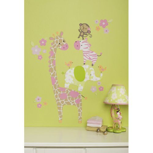Carters jungle jill wall decals giraffe nursery decor and kids room wall art