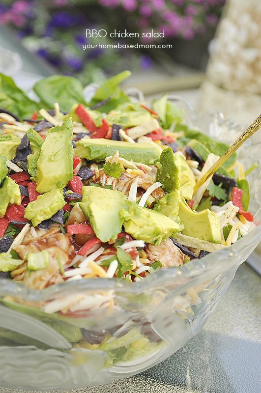 BBQ Chicken Salad - just like California Pizza Kitchen! Looks so good! I should make this for dinner tonight!