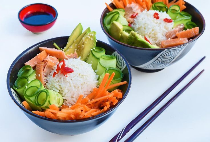#IQS8WP deconstructed sushi bowl, with salmon instead of tuna.