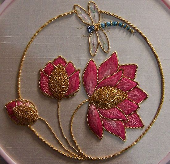 An Easy Tutorial to Learn Indian Hand Embroidery Designs. Beautiful work on here. Recommend this site.