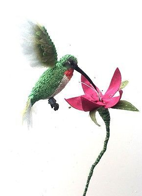 One-of-a-Kind-Small-Fabric-Hummingbird-Soft-Sculpture