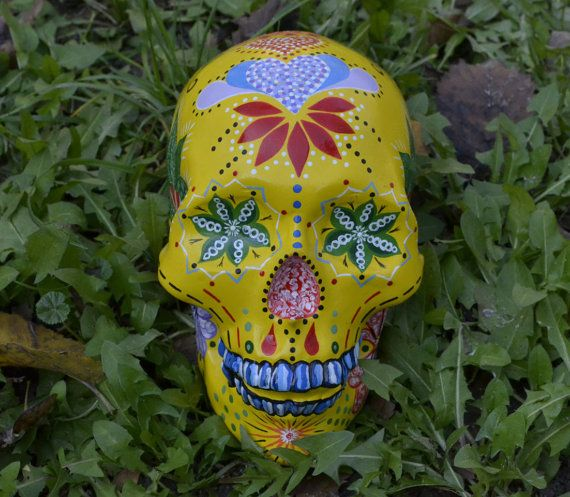 Sugar Skull Day of the Dead HandMade Ceramic Mexican Skull Candy Legend Home Decoration Unique
