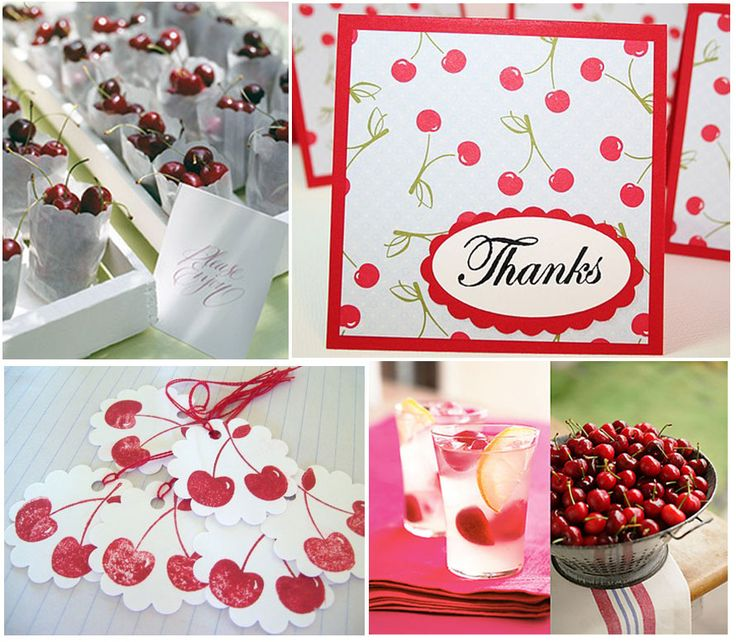love little bags filled with cherries