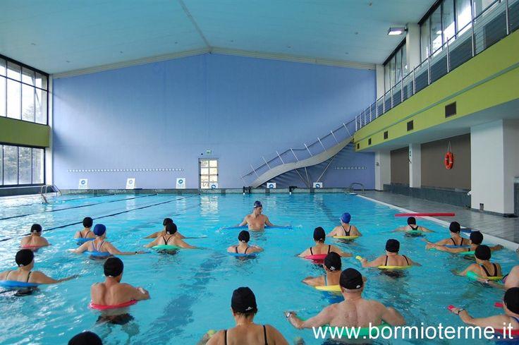 Ginnastica dolce in acqua termale, piscina natatoria semi olimpionica