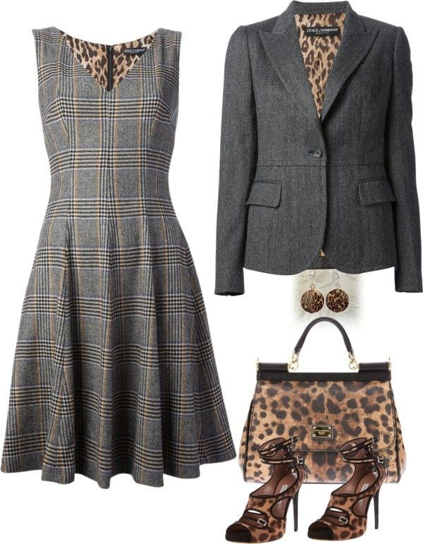 Plaid and leopard= LOVE IT!