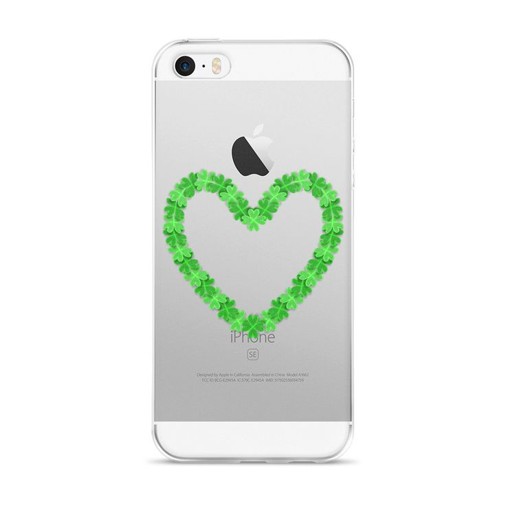 3D Four Leaf Clover Heart Shape iPhone 5/5s/Se, 6/6s, 6/6s Plus Case