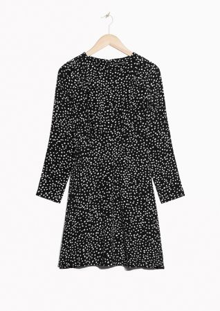 & Other Stories image 1 of Dots Mini Dress  in Black
