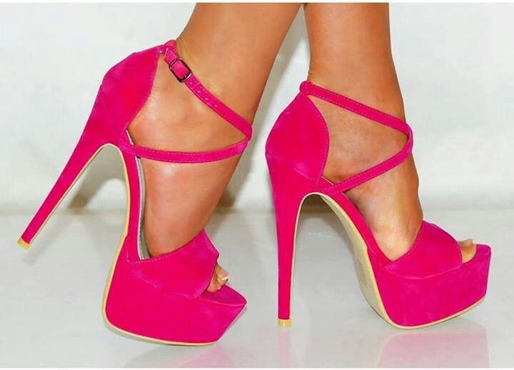 hot pink high heels  Shoes  Pinterest  Hot pink Love and Pink