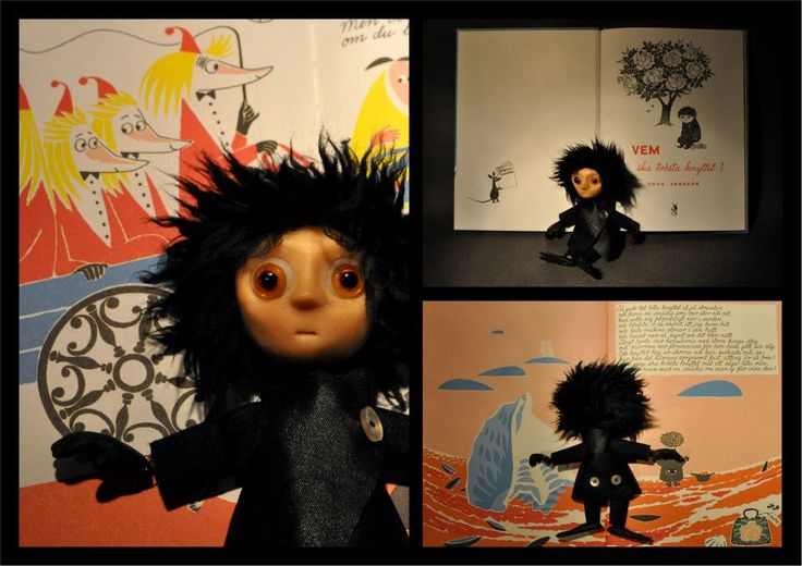 Who will Comfort Toffle? // Vem ska trösta Knyttet? // Kto pocieszy Maciupka?  Toffle from Tove Janssons story. Created for swedish Montessori scholar system. Each doll is about 15 cm tall. Made by Maria Janczak ( mariajanczak.art.pl )