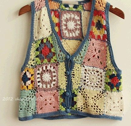 Crochet Granny Square Vest Pattern : 17 Best images about Crochet/Granny Square Clothing on ...