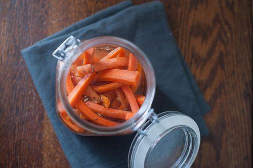 pickled carrot sticks