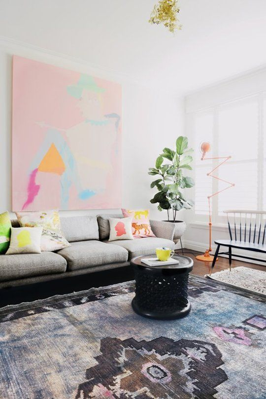 Look We Love: Soft Modern  A lovely, minimal space with pastel accents from Est Magazine via SF Girl by Bay.